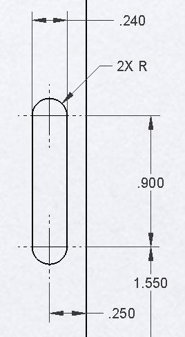 Dimensioning Of Slots Sw 2009 And Asme Y145m Solidworks Legion